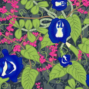 Butterfly Pea and Love Vine Nouveau- Large Scale