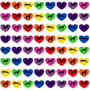 Greyt Rainbow Hearts