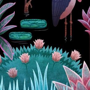 Coral shapes on rose quartz background