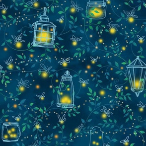 Firefly Evening Forest // smaller original