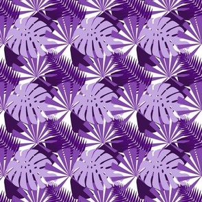Tropical Multi Leaves _Purples