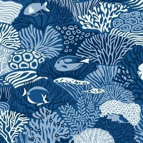 Coral Reef in classic blue (60%)