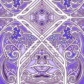 Swirly Glade (purple)
