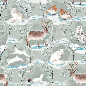 Large_scale_winter_wonderland_arctic_animals
