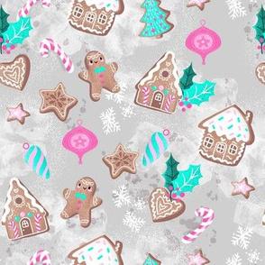 sweet gingerbreadhouses gray
