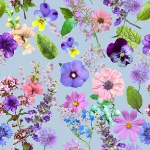 Loose Flower Cuttings Light Blue