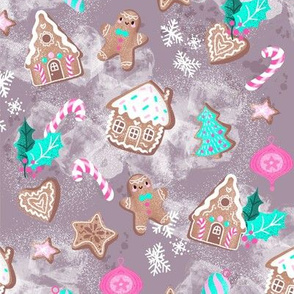 sweet gingerbreadhouses taupe