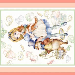 "alice in wonderland blanket panel 36"" by 42"