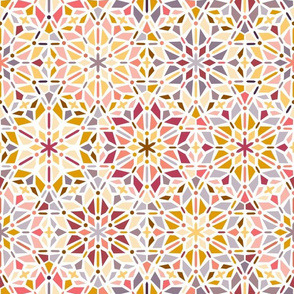 kaleidoscope in red and yellow