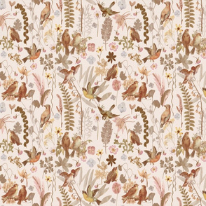 Song Bird Garden Vintage blush