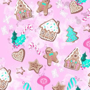 sweet gingerbreadhouses pink