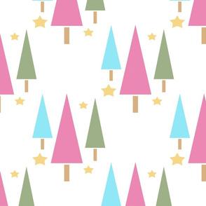 Holiday Trees Pastel