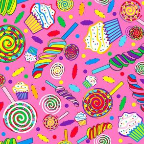 Lollipops Wonderland  large pink