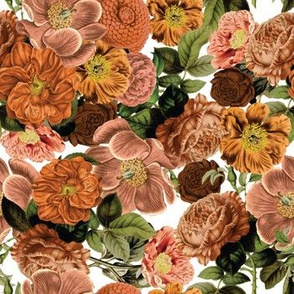 Orange, Blush, and Brown Fall Flowers