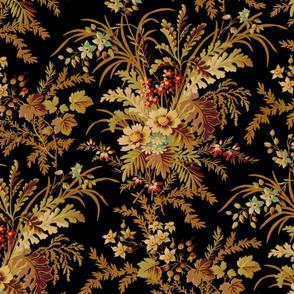 De Weese Victorian Bouquet on Black Vivid