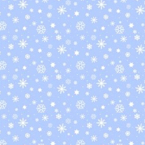 snowflake repeat on blue