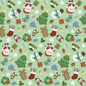 christmas mix on green small