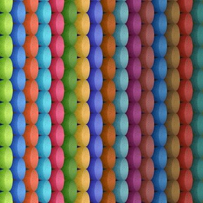 Rainbow Rag Rug Knit Stripes - Large Scale - Y