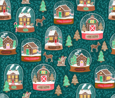Gingerbread House Snow Globes