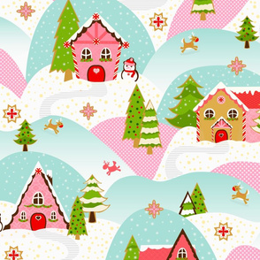 Gingerbread Alpine Village large scale