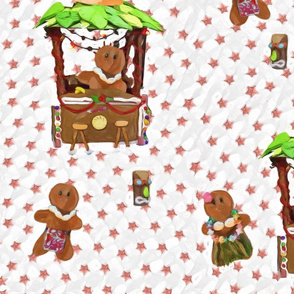 Hawaiian Gingerbread Tiki Hut