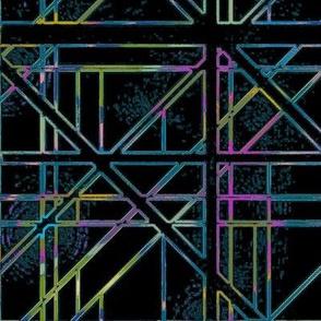 Stargate Bridge Geo in Holographic Rainbow