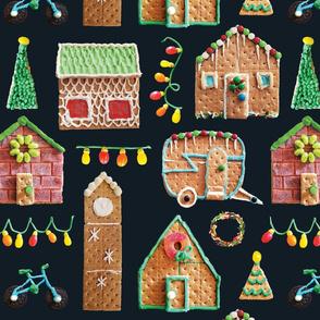 Gingerbread Houses // Festive Christmas Holiday Cheer