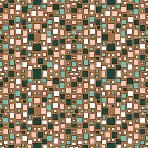 1960s Retro Blocks Pattern