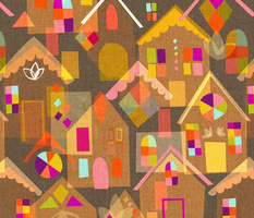 Mid Century Gingerbread Houses