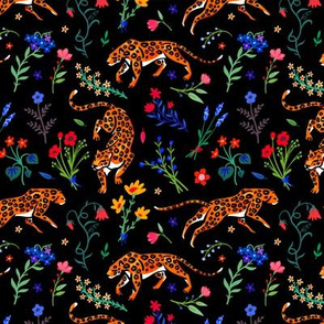 Leopards and wildflowers