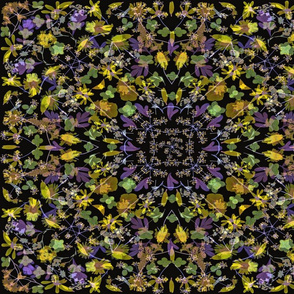kaleidescope Purple Green Yellow Meadow