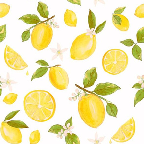 Vintage Lemons in Watercolor by Heather Anderson