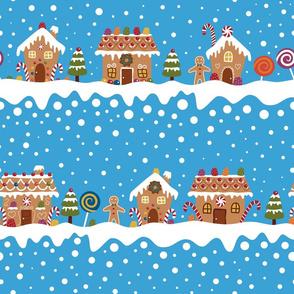 snowy gingerbread lane