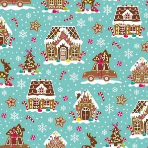 gingerbread winter village