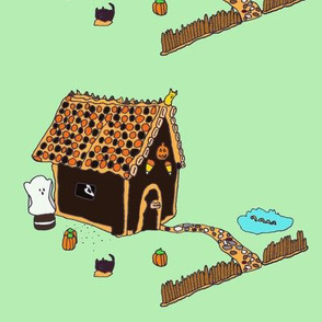 Haunted Gingerbread House high-res