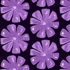 dusky violet midnight blood orange colourway