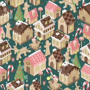 Gingerbread Town Green