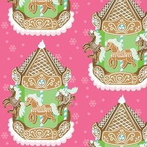 Mini Gingerbread Carousel