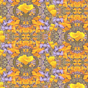 California Poppies Art Nouveau Design