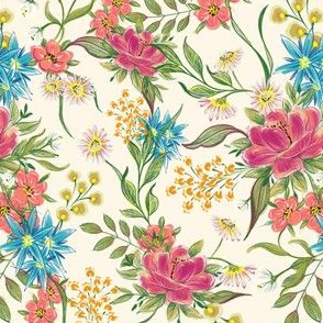 chintz pattern on rose
