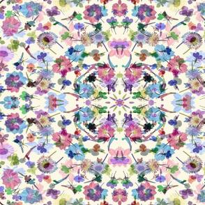 kaleidescope watercolor garden
