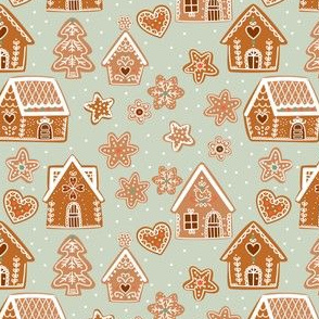 Gingerbread House_ Sage green