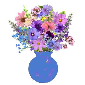 Blue Vase Still Life