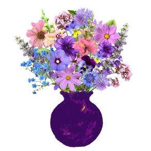 Purple Vase Still Life
