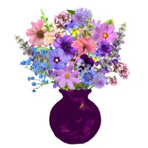 Plum Vase Still Life