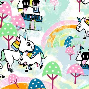 Unicorns Wonderland large white