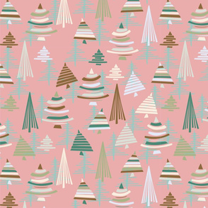 christmastrees pink