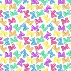 Polka Dot Bows Rainbow Small