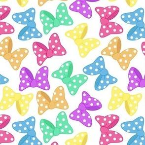 Polka Dot Bows Rainbow Large