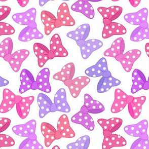 Polka Dot Bows Pretty Pinks Large